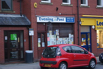 Yorkshire Evening Post - A newsagents in Boston Spa with Evening Post signage, as is common across the city.