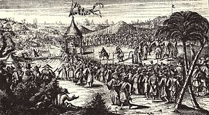 Kingdom of Tungning - Koxinga receiving the Dutch surrender on February 1, 1662