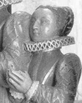 Susan de Vere, Countess of Montgomery - Effigy of Lady Susan de Vere on her tomb in Westminster Abbey