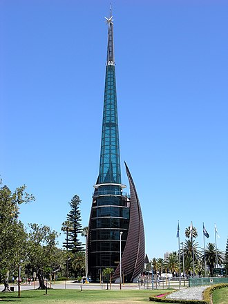 Observation tower - Swan Bells Observation tower, Perth, Australia.