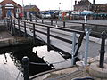Swing footbridge and lock gates at the entrance to Exeter Canal Basin (3).JPG