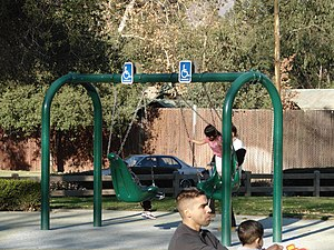 Shane's Inspiration - Adaptive swings at Shane's Inspiration playground in Griffith Park, Los Angeles