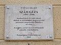Szám Géza feltaláló emléktáblája, Knézich utca, 2017 Ferencváros.jpg