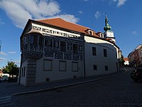 Třebíč, Karlovo náměstí, Hasskova, Malovaný dům (02).jpg