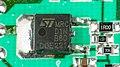 T-DSL Teledat 300 LAN - STMicroelectronics STD1NB80 on power adapter-4043.jpg