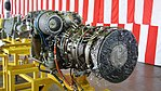T700-IHI-401C turboshaft engine left rear view at JMSDF Kanoya Air Base April 30, 2017.jpg