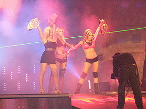Madison Rayne - Rayne (right) with Sky and Lacey Von Erich