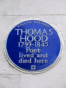 THOMAS HOOD 1799-1845 Poet lived and died here.jpg