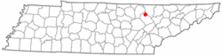 Location of Sunbright, Tennessee