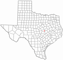 Location of Little River-Academy, Texas