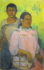 Tahitian Woman and Boy