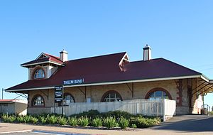 Tailem Bend, South Australia - Tailem Bend station building in 2010