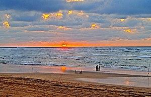 Dar Bouazza - Sunset on Tamaris Beach, Dar Bouazza