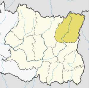 Location of Taplejing (dark yellow) in province