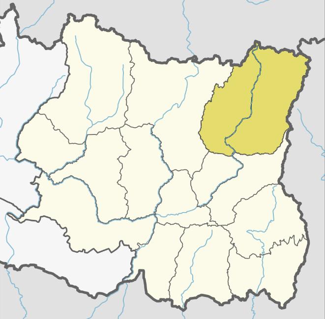 Taplejung district locator map
