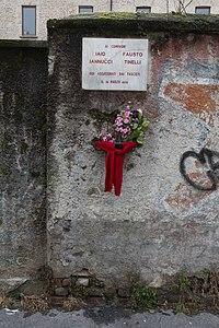 Targa commemorativa Fausto Tinelli e Iaio Jannucci.jpg
