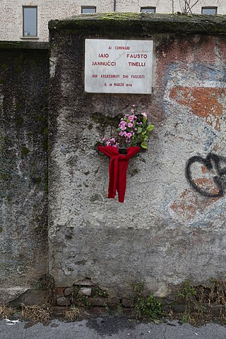 "murder of Fausto Tinelli and Lorenzo ""Iaio"" Iannucci"