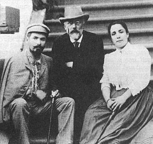 The Queen of Spades (opera) - Tchaikovsky with Nikolay and Medeya Figner, who sang the roles of Herman and Liza in the premiere in 1890