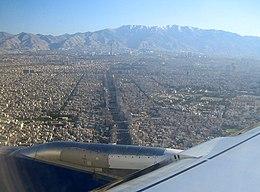 Vista aerea della città.