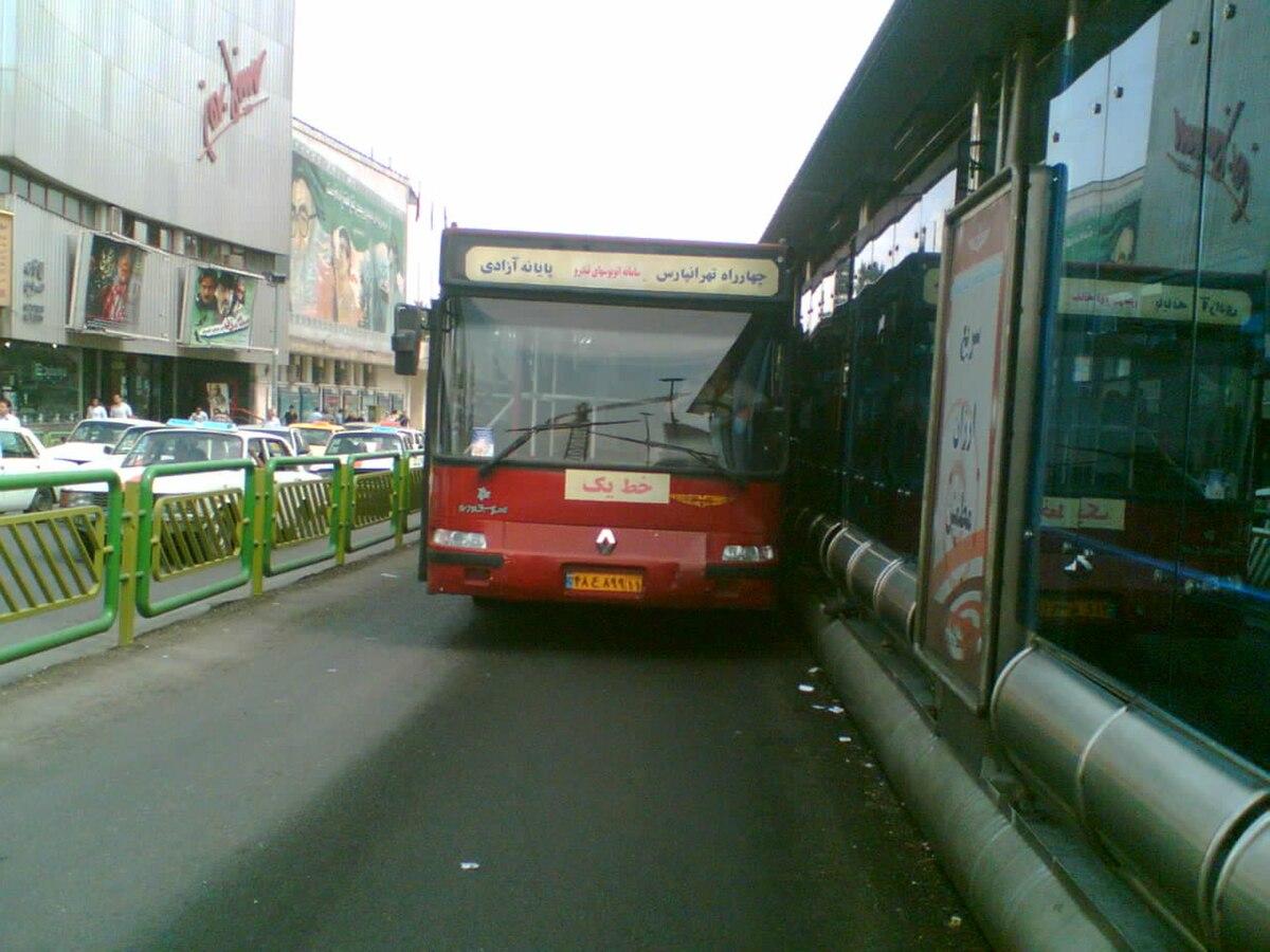 ۳ م سامانه اتوبوس تندرو تهران - ویکیپدیا، دانشنامهٔ آزاد