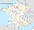 Température mini 11 février 2012 en France.png