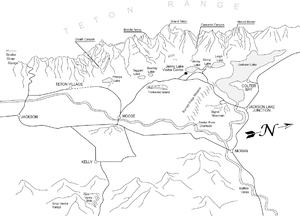 Geology of the Grand Teton area - A panoramic perspective map of the Teton area