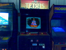 Photo d'une machine d'arcade Tetris