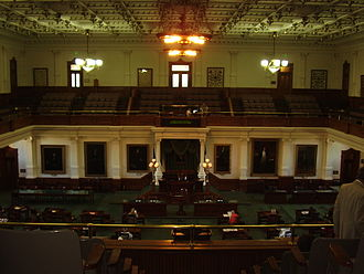 Texas Senate - Image: Texas Senate Chamber Austin TX