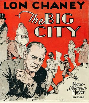 The Big City (1928 film) - Film poster or trade advert.
