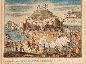 Siege of San Sebastián - An engraving of the siege of San Sebastian (1813)