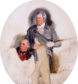 John Murray, 4th Duke of Atholl - The Duke of Atholl, and his game keeper John Crerar. (Edwin Henry Landseer)