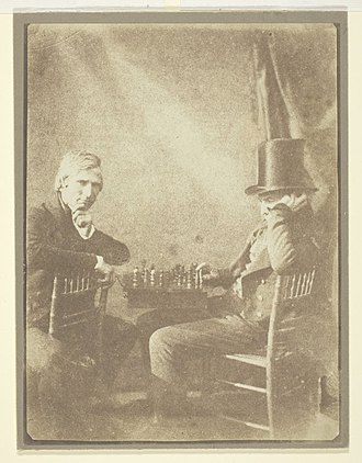 History of chess - The Chess Players by Henry Fox Talbot, 1847.