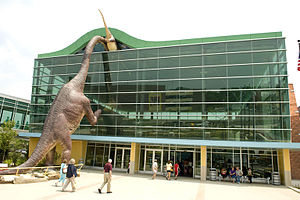 The Children's Museum of Indianapolis - Welcome Center and Brachiosaurus, installed in 2009.