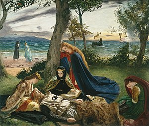 The Death of King Arthur (Marv Arzhur), gant James Archer (1823 – 1904).