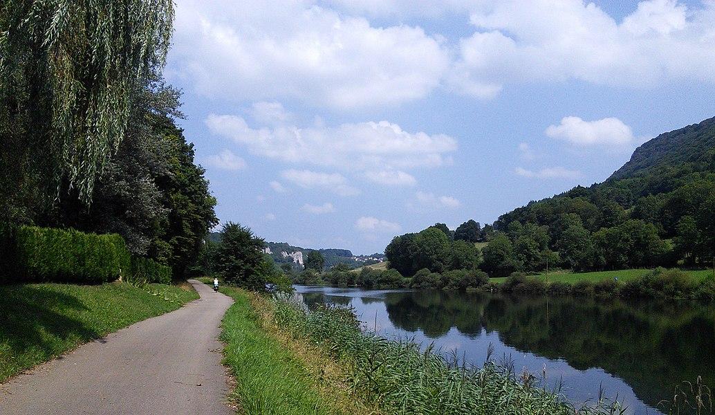 The Doubs west of the Fourbanne. Département du Doubs, France.