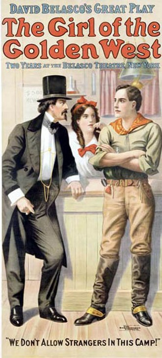 The Girl of the Golden West (play) - Poster for the 1907 run of The Girl of the Golden West