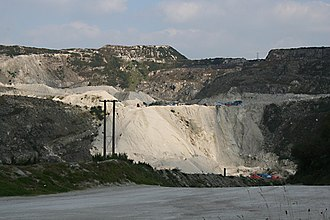 St Austell River - Gunheath china clay pit