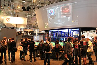 Dota 2 - Gamescom 2011 in Cologne, where the game was first made available to the public