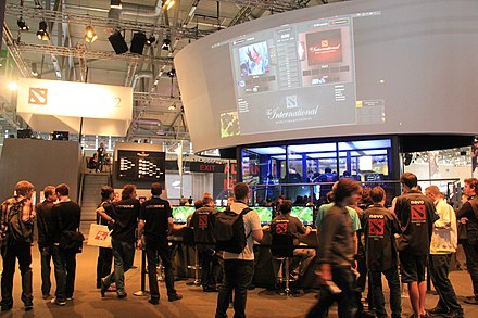 The first International was held at Gamescom in 2011 The International Dota 2 video game tournament.jpg