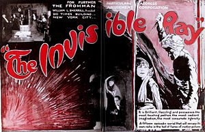 The Invisible Ray (1920 serial) - Advertisement for film serial
