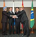 The Leaders of the BRIC Countries, the President of Brazil, Mr. Lula da Silva, the President of Russia, Mr. Dmitry A. Medvedev, the Prime Minister of India, Dr. Manmohan Singh and the President of China (1).jpg
