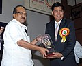 The Minister of State (Independent Charge) for Consumer Affairs, Food and Public Distribution, Professor K.V. Thomas presented the Rajiv Gandhi National Quality awards, at a function, in New Delhi on April 18, 2012 (1).jpg