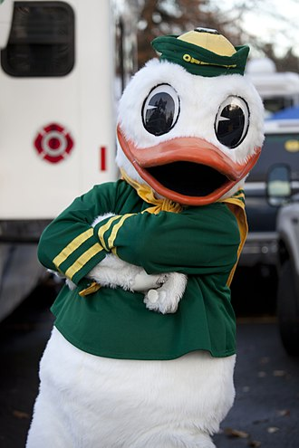 The Oregon Duck - The Oregon Duck before a Ducks football game