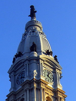 Center City, Philadelphia - The Philadelphia City Hall in Center City