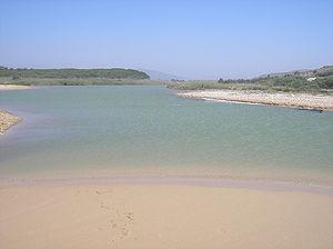 Platani (river) - The Platani river near Heraclea Minoa.
