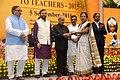 The President, Shri Pranab Mukherjee presenting the National Award for Teachers-2015 to Smt. Prabha Alley (Arunachal Pradesh), on the occasion of the 'Teachers Day', in New Delhi.jpg