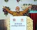 The Prime Minister, Shri Narendra Modi addressing at the dedication ceremony of the Stage I of Shri Shingaji Thermal Power Project to the nation, at Khandwa, in Madhya Pradesh on March 05, 2015.jpg