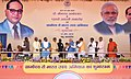 """The Prime Minister, Shri Narendra Modi at the Public Meeting for the launch of the """"Gram Uday se Bharat Uday"""" Abhiyan, in Mhow, Madhya Pradesh.jpg"""