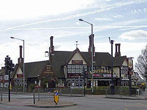 Southbury Road - The Southbury public house.