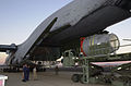 The Submarine Rescue Chamber (SRC) is loaded aboard an Air Force Reserve C-5A Galaxy at Naval Air Station North Island, Calif 000924-N-YM689-004.jpg